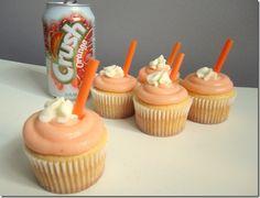 orange cream soda pop cupcakes (white cake mix)