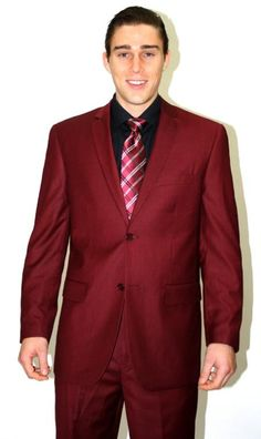 Men's 2 piece affordable suit online sale - Burgundy | MensITALY  Price: US $110
