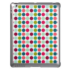 Your iPad doesn't have to be boring any longer with our custom designs! You'll love this chic and trendy iPad case featuring a background of bright polka dots. #iPad #covers #cases   http://www.zazzle.com/colorful_polka_dotted_ipad_cases-256930078570110912?rf=238788571718222111
