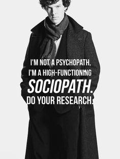 Obwohl ich manchmal mehr zum Psychopathen tendiere...