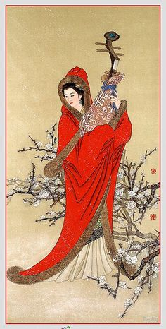 JP: Chinese painting - Wang Zhou Jun - the 2nd of the legendary 4 great beauties of ancient China.