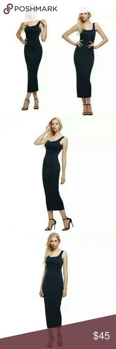 "⭐NEW ARRIVAL⭐ Black Tank Bodycon Maxi Dress Wardrobe Essential   Black Tank Bodycon Maxi Dress  90% Polyester 10% Spandex  Length: 52.3"" New in package  Size Medium   ▪ No Trades  ▪ Fast Shipping IT Ragazza  Dresses Midi"