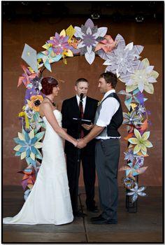 Gorgeous paper wedding arch or chuppah