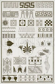 ancient greek vases art patterns - Google Search Ancient Greek Art, Ancient Greece, Egyptian Art, Ancient Aliens, Ancient Egypt, Greek Pattern, Pattern Art, Art Patterns, Designers Gráficos