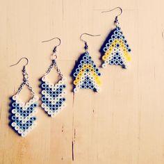 Earrings hama beads by Laura