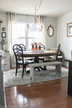 Modern Farmhouse Dining Room/Office Reveal   $100 Room Challenge • Sweet Parrish Place