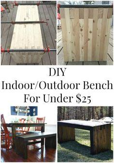 Modern Bench DIY   iamahomemaker.com