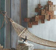 Jute Hammock from Heaven's Gate Home and Garden Hanging Furniture, Wooden Furniture, Backyard Renovations, Suite Life, Natural Interior, Wall Spaces, Light Beige, Interior Inspiration, Interior Ideas