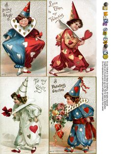 Vintage Valentines - Lots of free printables at this site:  Go Make Something » Postcard Sheets