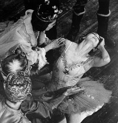 Margot Fonteyn - at the age of 53, dancing the 16-year-old Aurora in the classic ballet, 'Sleeping Beauty'