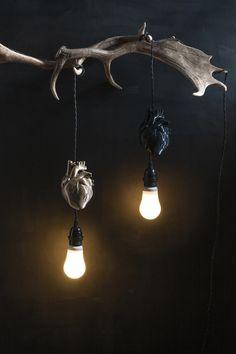AB X DASH OF CURIOSITY - Heart Pendant light fixture - Gold   Anatomy Boutique Biodegradable Plastic, Biodegradable Products, Pendant Light Fixtures, Pendant Lighting, Wall Lights, Ceiling Lights, Heart Of Gold, Curiosity, Heart Charm
