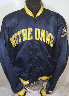 Vintage Notre Dame Fighting Irish Mens Size Large Starter Jacket #Starter #NotreDameFightingIrish
