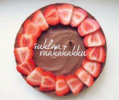Syötävän hyvä: MAHTAVA SUKLAARAAKAKAKKU Stevia, Fun Desserts, Goodies, Pie, Baking, Healthy, Food, Sweet Like Candy, Torte