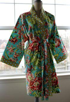 Robe  Robes  Cotton Robes   Custom Kimono Robe  Bath by ORTUPES, $89.00