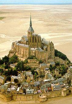Le Mont-Saint-Michel was renovated in 19th century by Viollet-Le-Duc