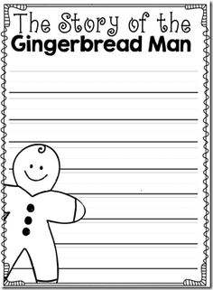 gingerbread man writing activity