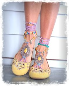 INDIE Paisley BAREFOOT sandals PURPLE bottomless sandal by GPyoga, $89.00