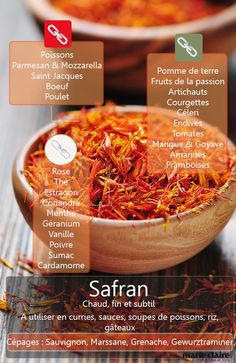 Cook with saffron, Food And Drinks, Saffron is the most expensive spice, learn to cook it by discovering the best associations. Cooking Tips, Cooking Recipes, Healthy Recipes, Cuisine Diverse, Good Food, Yummy Food, Food Charts, Food Science, Churros