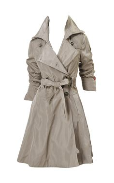 Karen Millen Tallored cotton shift coats khaki