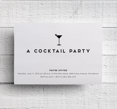 Cocktail Party Invitation Printable by edencreativestudio on Etsy…