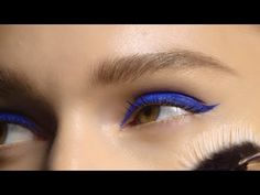 M•A•C SS16 Fashion Week Eye Looks: Bright Blue Liner and Matte Red Lips from Yazbukey with Romero - YouTube