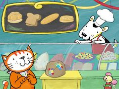 Go shopping, build sandwiches, and interact with Poppy Cat and her friends all while learning Spanish in a fun language-learning app.