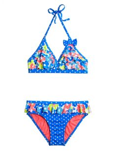 Floral Dot Bikini Swimsuit | Girls Swimsuits Swimwear | Shop Justice