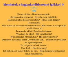 Leggyakoribb német igék German Language, School Hacks, Learning, Life, Learn German, Fruit, Knowledge, Studying, Teaching