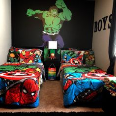 25 Stunning Boy Bedroom Decorations With Marvel Theme Ideas Bedroom 25 Stunning Boy Bedroom Decorations With Marvel Theme Ideas Boys Superhero Bedroom, Marvel Bedroom, Boys Bedroom Decor, Bedroom Ideas, Kid Bedrooms, Superhero Room Decor, Trendy Bedroom, Ideas For Boys Bedrooms, Kids Bedroom Boys