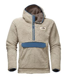 The North Face Men's Campshire Pullover Hoodie - XL - Granite Bluff Tan / Shady Blue Tommy Hilfiger Sweatshirt, Tactical Clothing, Hoodies For Sale, Outdoor Apparel, Half Zip Pullover, Japanese Outfits, Urban Outfits, Sweater Weather, Mens Sweatshirts