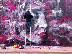 Graffiti art by David Walker David Walker, Walker Art, Graffiti Artwork, Mural Art, Caricatures, Grafitti Street, Ephemeral Art, Street Art Photography, Urban Street Art