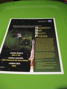 NASA ATLAS V-401 RADIATION BELT STORM PROBES LAUNCH  RBSP AUG 2012 -2 INFO CARDS