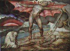 """Satan Inflicting Boils on Job"" by William Blake"