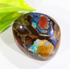 Boulder Yowah Opal Stone double sides SU 68 unique yowah nuts formed in thisdstone so colors both side and nuts in this boulder opal