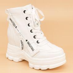 Ghete cu Platforma Dama QQ11 White (000) Mei Orice, Search, Sneakers, Facebook, Shoes, Fashion, Tennis, Moda, Slippers