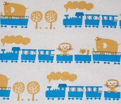 Circus Animal Train - Blue - Puti de Pome - Kiyohara Japanese Fabric / Kawaii Japanese Fabric / Fabric for Kids / Animal Fabric     https://www.maigocute.com/collections/fabric/products/circus-animal-train-blue-puti-de-pome-kiyohara-japanese-fabric