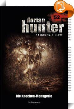 Dorian Hunter 52 – Die Knochen-Menagerie    ::  Innerhalb der Schwarzen Familie setzt sich der Machtkampf um den vakanten Posten des Oberhaupts fort. Jedoch mehren sich die Gerüchte, dass in naher Zukunft ein mächtiger Dämon auferstehen soll, um den Thron zu besteigen: Aszaghon, den man auch als die »Dunkle Eminenz« bezeichnet. Dorian Hunter bleibt nicht viel Zeit, um das Erwachen des Gegners zu verhindern ...  Der 52. Band der legendären Serie um den »Dämonenkiller« Dorian Hunter. - »...