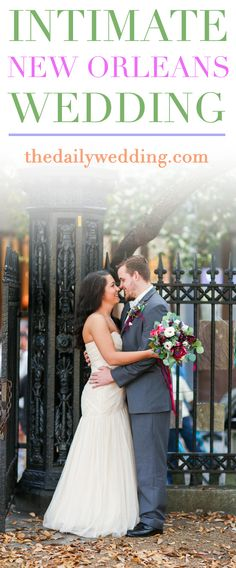 Such a cute and intimate wedding int he city! View the full wedding here: http://thedailywedding.com/2016/05/18/intimate-new-orleans-wedding-santana-aaron/