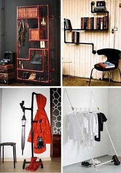 Отличные идеи полезных вещей из остатков пластиковых труб Pvc Projects, Wardrobe Rack, Entryway, Photo Wall, New Homes, Handmade, Furniture, Home Decor, Pints
