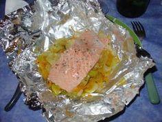 Papillote de saumon à la moutarde