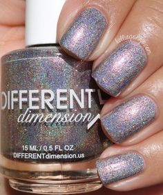 Different Dimension Homespun Holidays Collection Swatches & Review | KellieGonzo | Bloglovin' / Celebration is a greyed taupe holographic with added shimmers, flakies and reddish-copper holographic microglitters