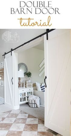 DIY Double Barn Door | Thrifty and Chic | Bloglovin'