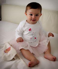 Maglietta maniche lunghe con elefantino Why Not? in cotone biologico per neonati e bambini
