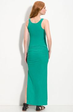 James Perse Ruched Maxi Tank Dress