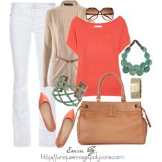 Coral & Turquoise, created by uniqueimage on Polyvore