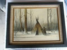 Native American Indians, Painting Inspiration, Nativity, Wood, Ebay, Winter, Art, Winter Time, Art Background