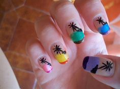 colored palms - Nail Art Gallery by NAILS Magazine