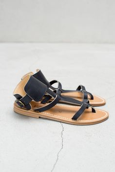 leather sandals / K Jaques