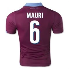 ss Lazio 2014-15 season Mauri #6 Away Red Soccer Jersey [A253]
