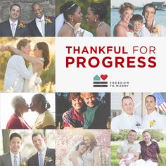 More couples are grateful for the freedom to marry this Thanksgiving than ever before.